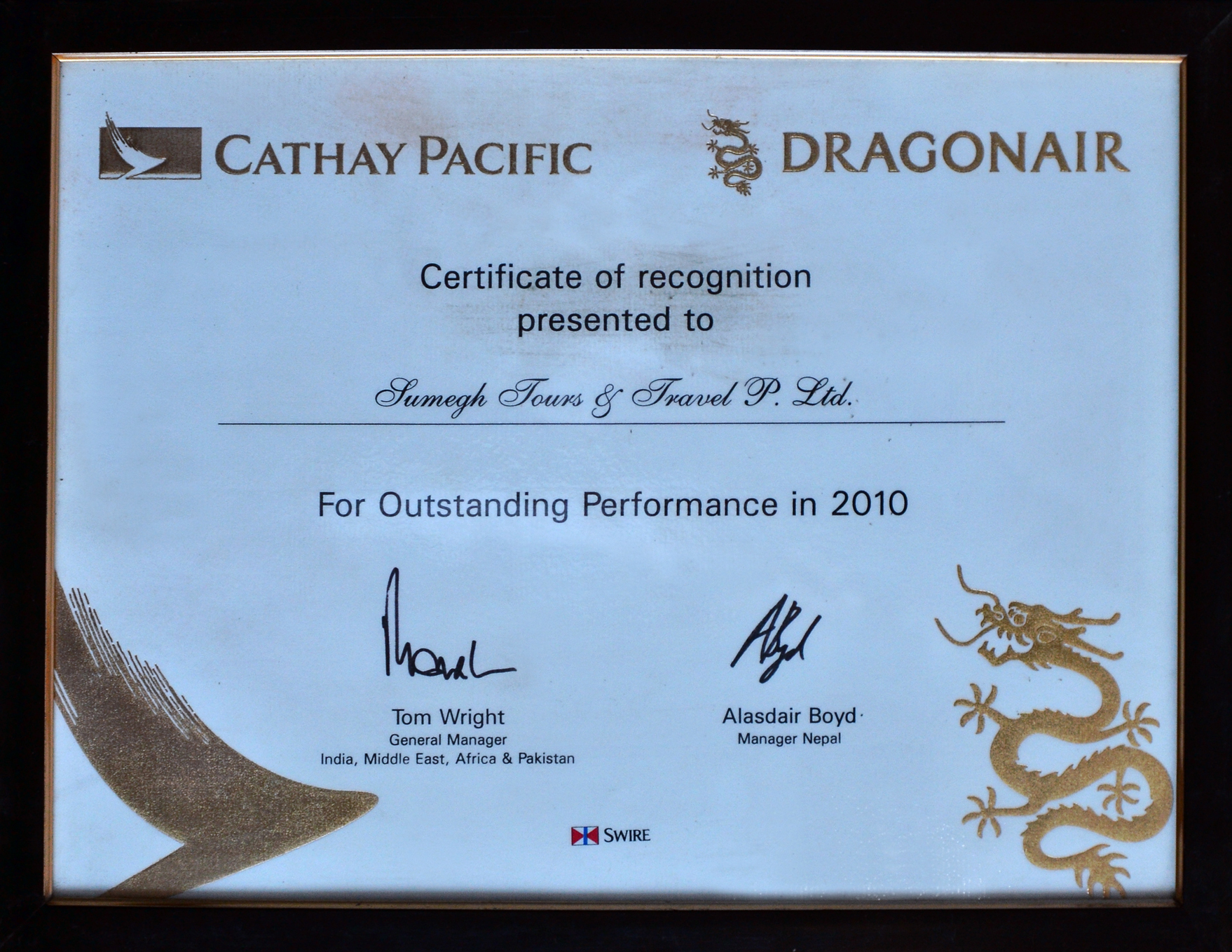 No 1 Travel Agent Dragon air 2013